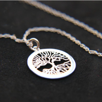 Sterling Tree Roots Pendant Necklace SALE