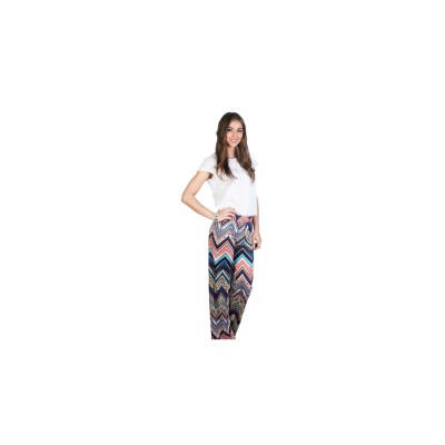 Pink And Navy Combo Straight Cut Palazetto Pants