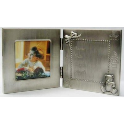 Pewter Birth Record Photo Frame