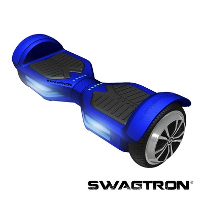 SWAGTRON T3 Self Balancing Electric Scooter with Bluetooth, Blue (89717-4)