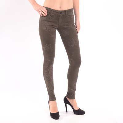 Black Jewel Mid Rise Skinny Jean In Dye