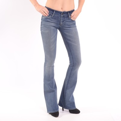 Mia Mid Rise Skinny Flare Jeans In Blue My Mind