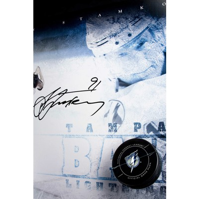 "Steven Stamkos Signed Tampa Bay Lightning Framed ""Slap Shot"" - Limited to 25"