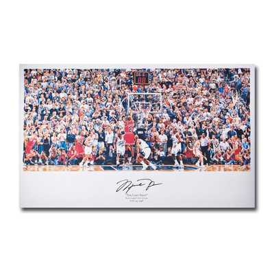 "Michael Jordan Signed Chicago Bulls ""98 Last Shot vs. Jazz"" Art Print  - by Chuck Gilles"