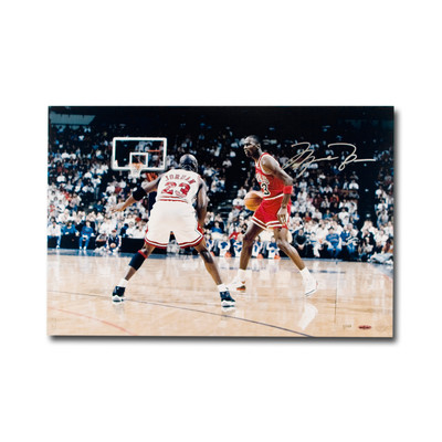 "Michael Jordan Autographed Chicago Bulls ""Driven From Within"" 24x16 Photo  - Limited to 123"