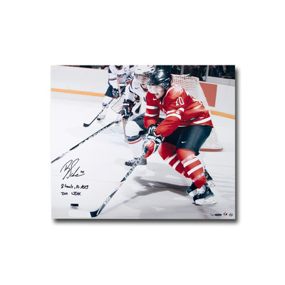 "Brayden Schenn Signed ""8 Goals, 10 Asts 2011 WJHC"" Team Canada 24x20 Photo  - Limited to 25"