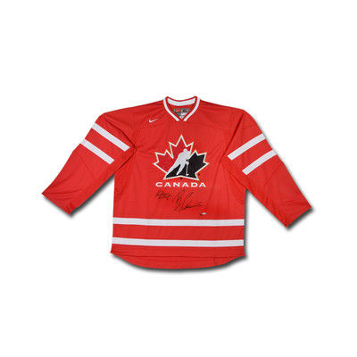 Brayden Schenn & Sean Couturier Dual Signed Team Canada Nike Red Jersey  - Limited to 30