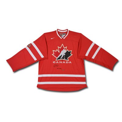 "Sean Couturier Inscribed ""2011 WJHC"" Team Canada Nike Red Jersey - Ltd /14"