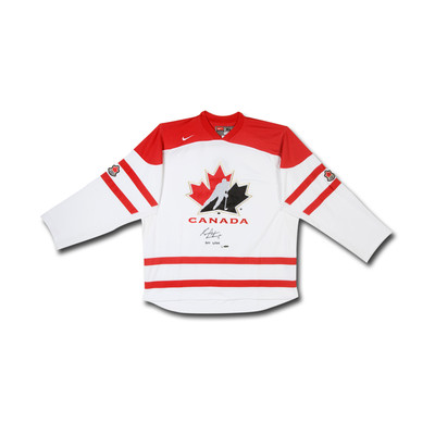 "Sean Couturier Inscribed ""2011 WJHC"" Team Canada Nike White Jersey - Ltd /14"