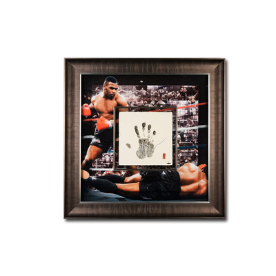 "Mike Tyson Autographed ""Tegata"" 36x36 Mosaic  - Framed and Limited to 20"