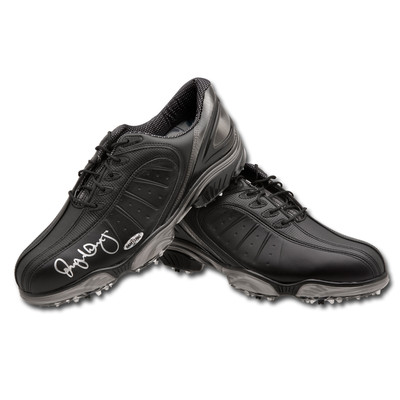 Rory McIlroy Autographed Black Foot Joy Sports Shoes  - Right Shoe is autographed