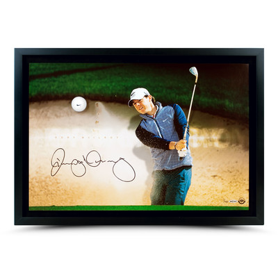 "Rory McIlroy Autographed ""Sandrap Breaking Through"" Framed Display  - Limited to 100"