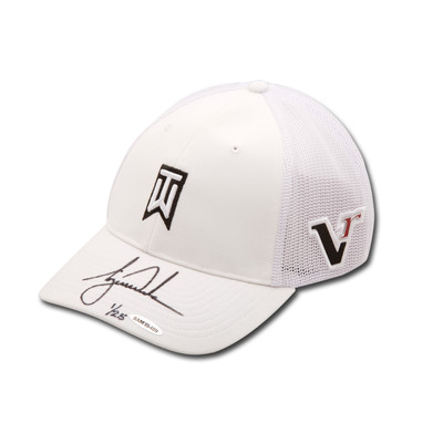 "Tiger Woods Autographed Nike 2012 ""Victory"" TW White Cap  - Limited to 25"
