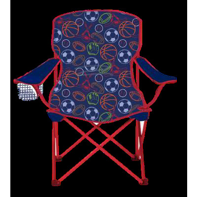Children Foldable Camping Chair - SIZZLIN COOL - Blue For Boys