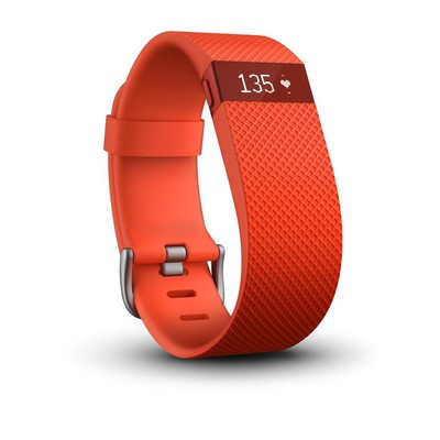 Fitbit Charge HR Wireless Activity Tracker, Tangerine Large (122212454214)