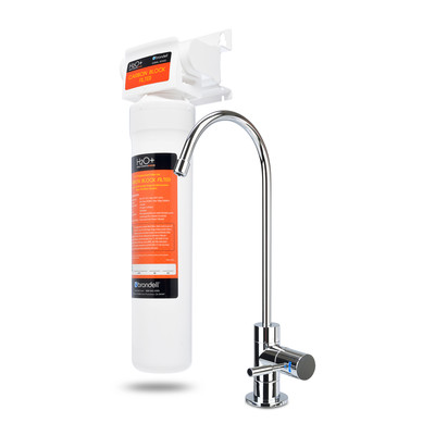 H2O+ Coral Single-Stage Undercounter Water Filtration System with Over 99% Lead Reduction