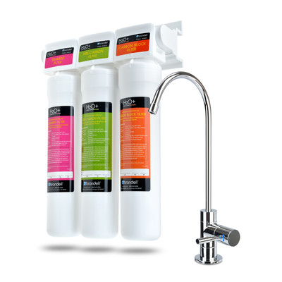 H2O+ Coral Three-Stage Undercounter Water Filtration System with Over 99% Lead Reduction