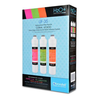 H2O+ Coral Three-Stage Replacement Filter Set (3 Filters)