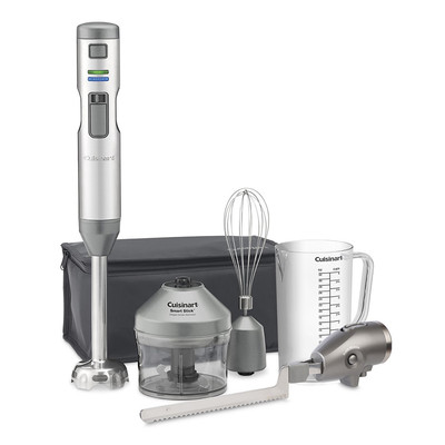 Cuisinart Smart Stick Cordless Hand Blender and Knife, Stainless Steel (CSB-300C)