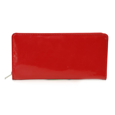Ladies Clutch Zippered Wallet, Red