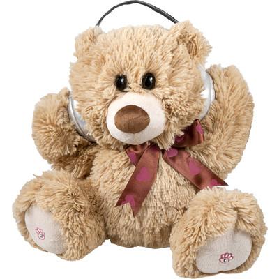 Adorable Dancing Brown Teddy Bear Portable Plush Bluetooth Communication Speaker (6944892020552)