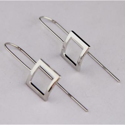 Silver Square Drop Earrings SALE