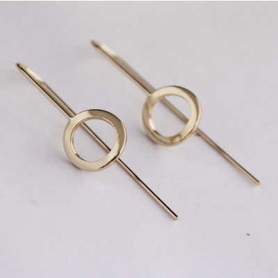 Gold Circle Drop Earrings SALE