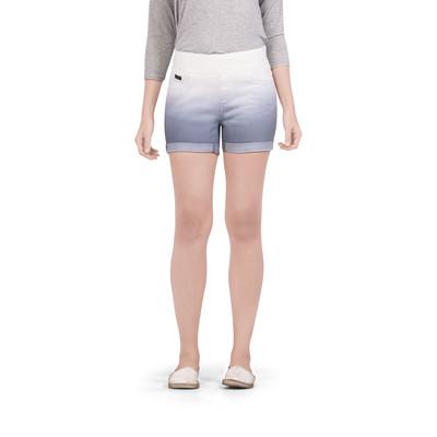 Bluberry women's Dip dye Lilac grey Cuffed shorts