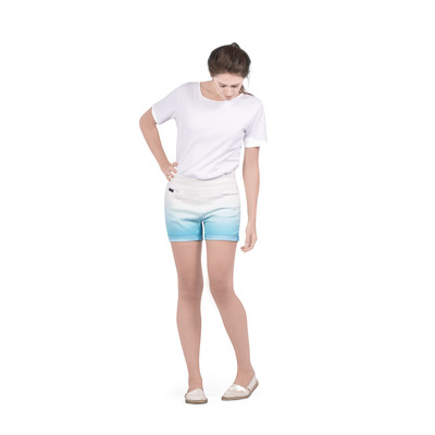 Bluberry women's Dip dye Limpetsell Cufffed shorts