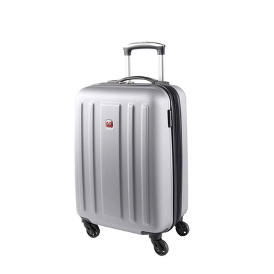 """Swiss Gear La Sarinne Collection 20"""" Silver Spinner Carry-on"""