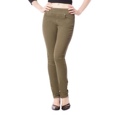 Bluberry women's Khaki slim leg denim