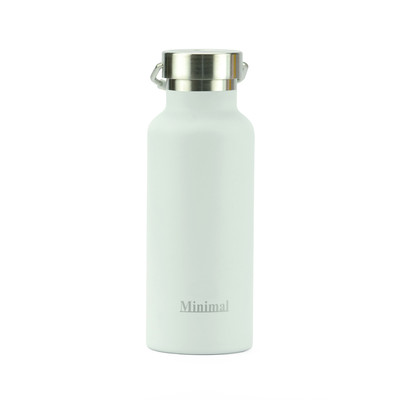 Minimal Stainless Steel Insulated Flask - White 500ml