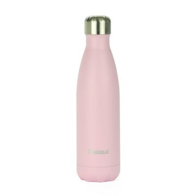 Minimal Stainless Steel Insulated bottle - Rose 500ml