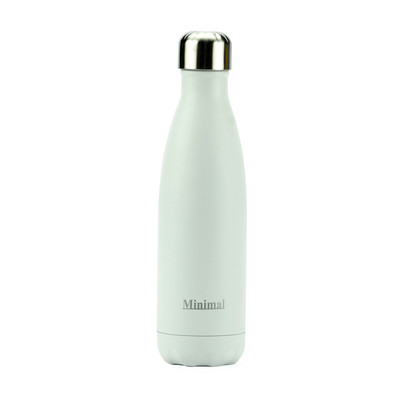 Minimal Stainless Steel Insulated Water Bottle - 500ml White