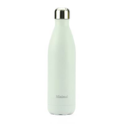 Minimal Stainless Steel Insulated bottle - White 750ml