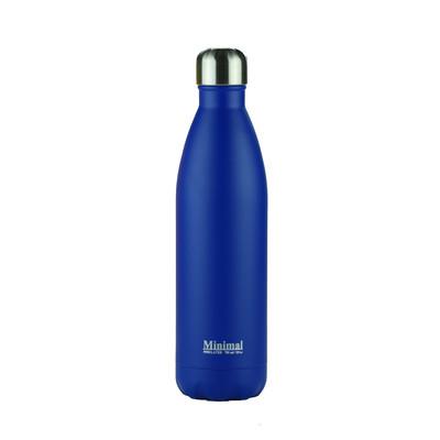 Minimal Stainless Steel Insulated Bottle - 750ml Blue