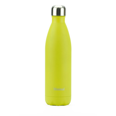 Minimal Stainless Steel Insulated Bottle - Yellow 750ml