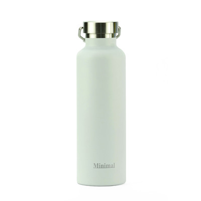 Minimal Stainless Steel Insulated Flask - White 750ml