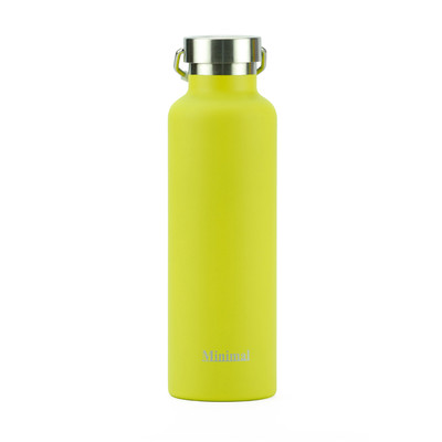 Minimal Stainless Steel Insulated Flask - Yellow 750ml