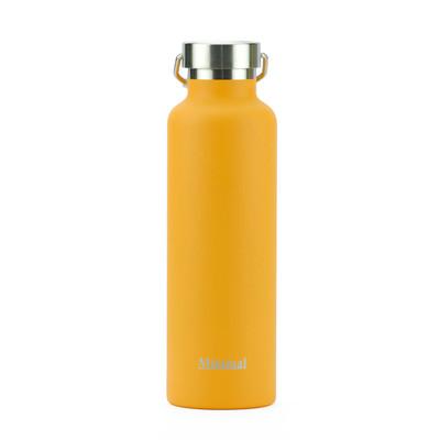 Minimal Stainless Steel Insulated Flask - Orange 750ml