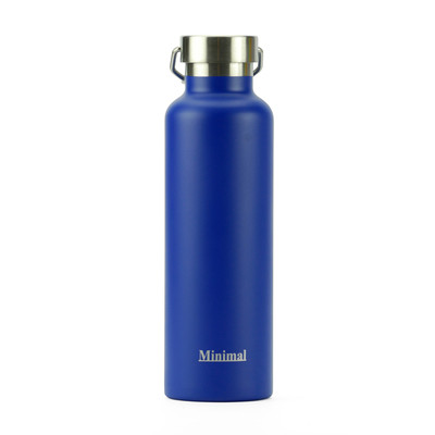 Minimal Stainless Steel Insulated Flask - Blue 750ml
