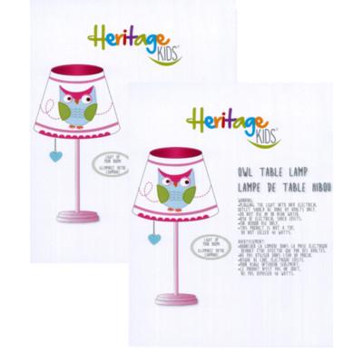 "Heritage Kids Owl 13"" Table Lamp (set of 2)"