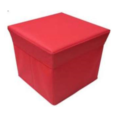 Urban Shop Collapsible Storage Ottoman - Red