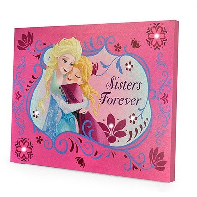 Disney Frozen Sisters Forever LED Canvas Wall Hanging