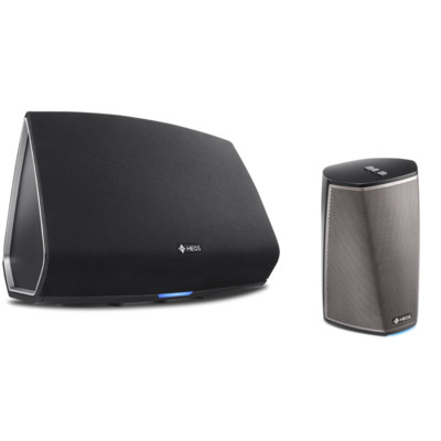 Denon HEOS 1 & HEOS5 (Series 2) Mini, Portable Wireless Speaker Black – Bundle (HEOS1+5Bk)