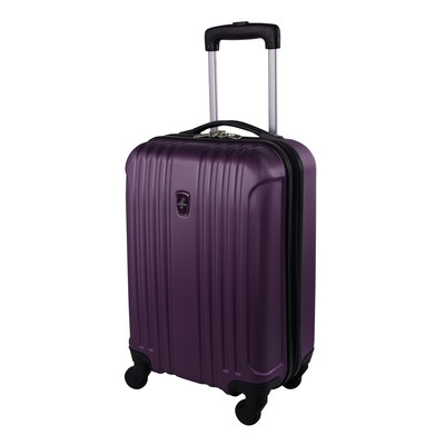 """Atlantic Necessity Lite Collection 20"""" Purple Spinner Carry-on"""
