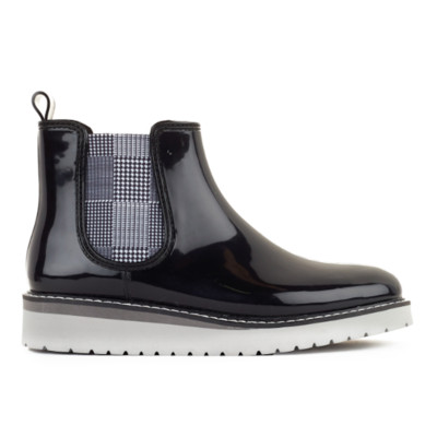 Women's Cougar 'Kensington' Rubber Boot in Black Checkered