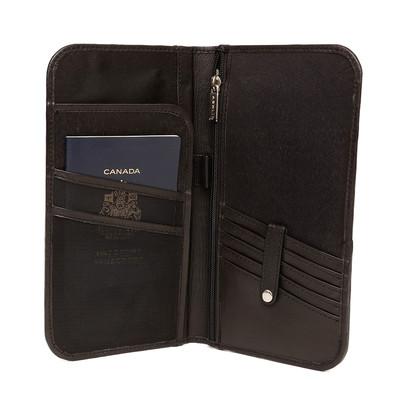 Genuine Leather Bi-fold ticket wallet, Black