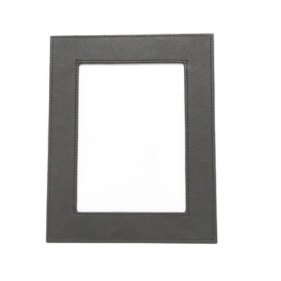 ASHLIN® - 100% Genuine Tuscany Leather 5 x 7 inch Photo Frame with Stand - Black