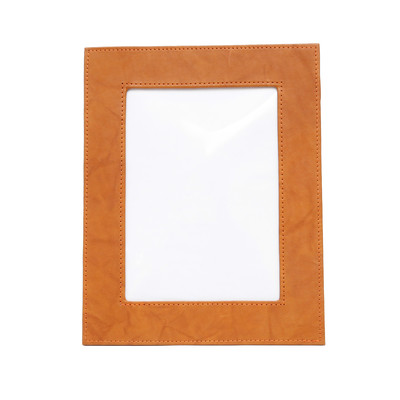 ASHLIN® - 100% Genuine Tuscany Leather 5 x 7 inch Photo Frame with Stand - British Tan